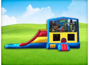3in1 Ninja Turtles Obstacle w/ Wet or Dry Slide