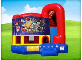 4in1 Pokemon Bounce House w/ Wet or Dry Slide