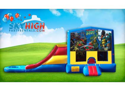 Teenage Mutant Ninja Turtles Bounce House Slide