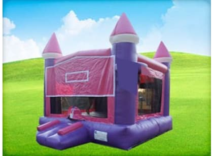 pink girl themed bounce house
