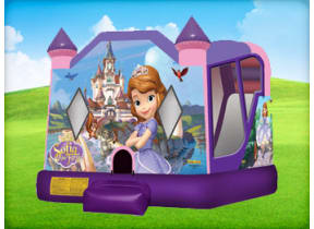 Sofia the First Moonwalk w/ (Wet or Dry Slide)