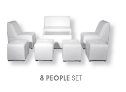 8 person luxury furniture rental