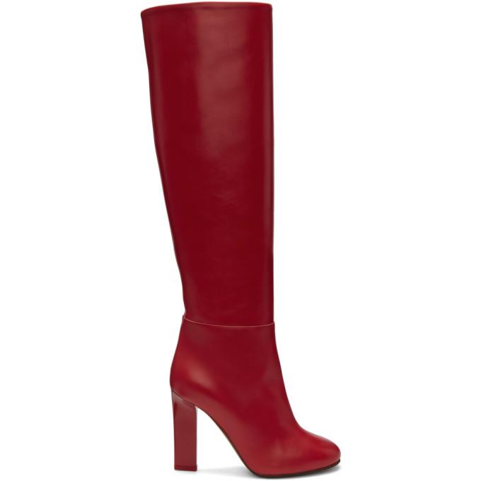 Victoria Beckham Leather Tall Boots 0Yo1Bc