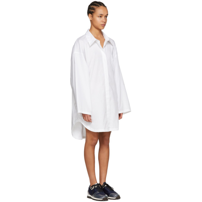 White Oversized Mazion Shirt Acne Studios Blå Konst Quality For Sale Free Shipping Clearance Enjoy Low Price Fee Shipping tbo5iOd24J