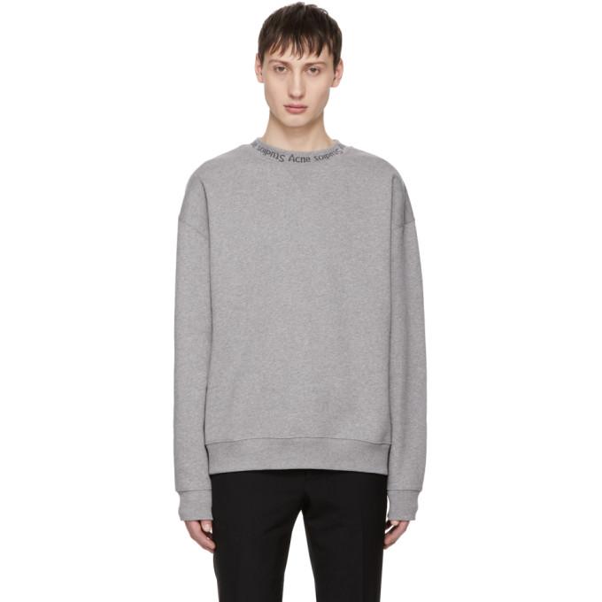Mens Flogho Logo-Crewneck Cotton Sweatshirt Acne Studios Cheap Price From China M5Bz39
