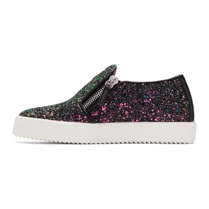 Giuseppe Zanotti SSENSE Exclusive Black Glitter May London Slip-On Sneakers tP65r0LU