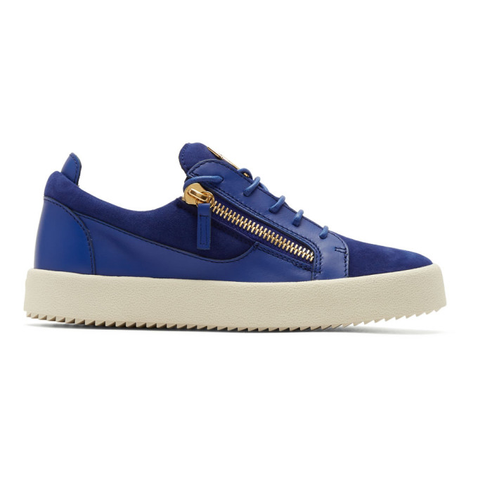 Giuseppe Zanotti Indigo Suede May London Sneakers Buy Cheap Best Place 1h6nV