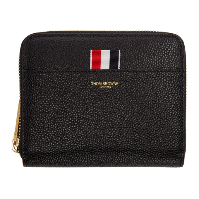Cheap Affordable Free Shipping Fashion Style Thom Browne Short Zip Around Purse In Pebble Grain Outlet Comfortable Recommend For Sale Cheap Online Z1wUTktw