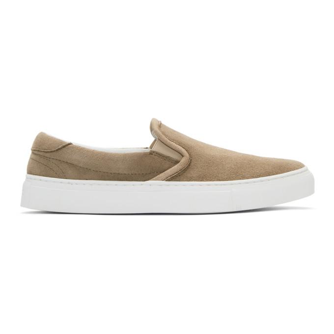 Diemme Beige Suede Garda Slip-On Sneakers GQt8v88C