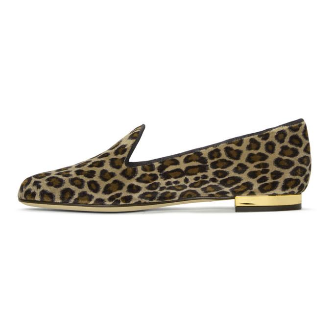 Charlotte Olympia Multicolor Leopard Velvet Nocturnal Loafers W5Lij