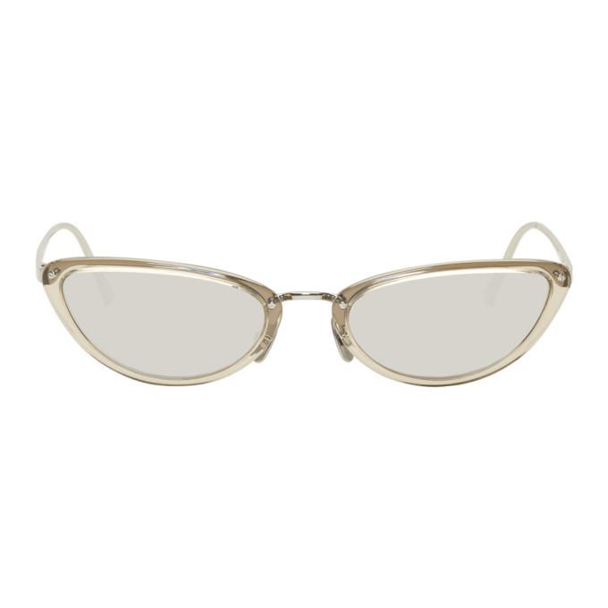 Linda Farrow Grey & White Gold 709 C7 Sunglasses f6zOA