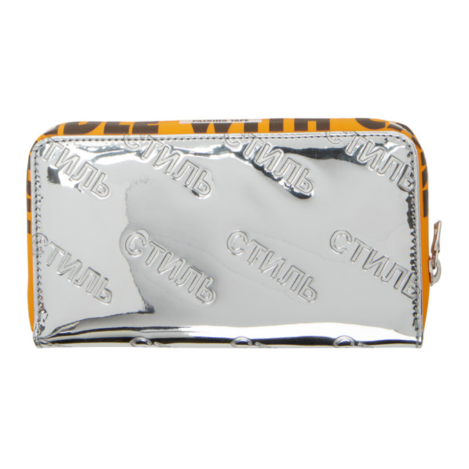 embossed logo wallet - Metallic HPC Trading Co. BCeO9