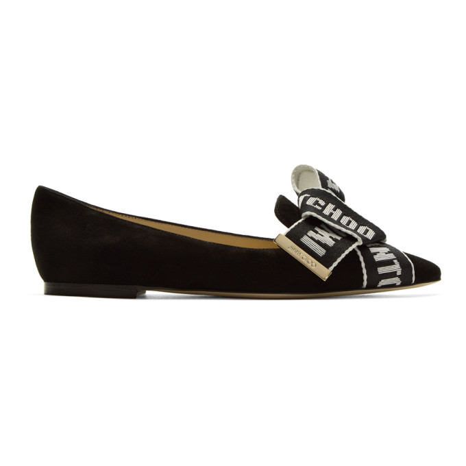 Jimmy choo Suede Logo Bow Gleam Flats Order For Sale Nicekicks Cheap Online Outlet Browse Y6bIGeQ8