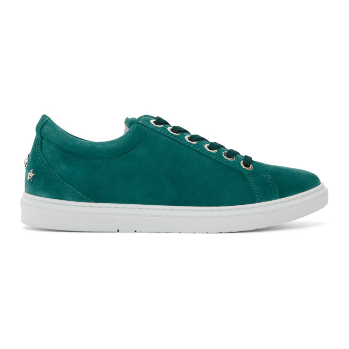 Jimmy Choo Green Suede Cash Sneakers CvaBKhWuFv