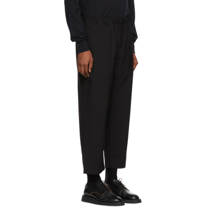 Laine Oamc Écourté En Pantalon Noir EH92WDI
