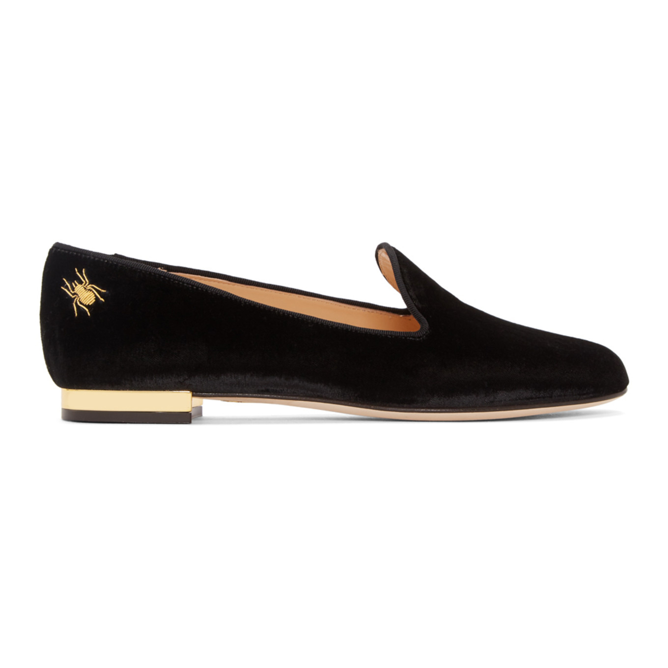 Black Nocturnal Loafers Charlotte Olympia H012t5