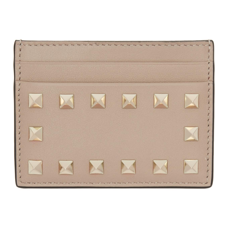 Portatarjetas rosado Garavani de Rockstud Valentino por O4fTUqOrxw