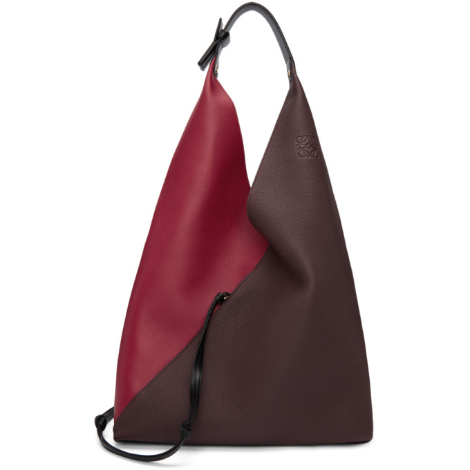 LOEWE RED AND BURGUNDY SLING BAG