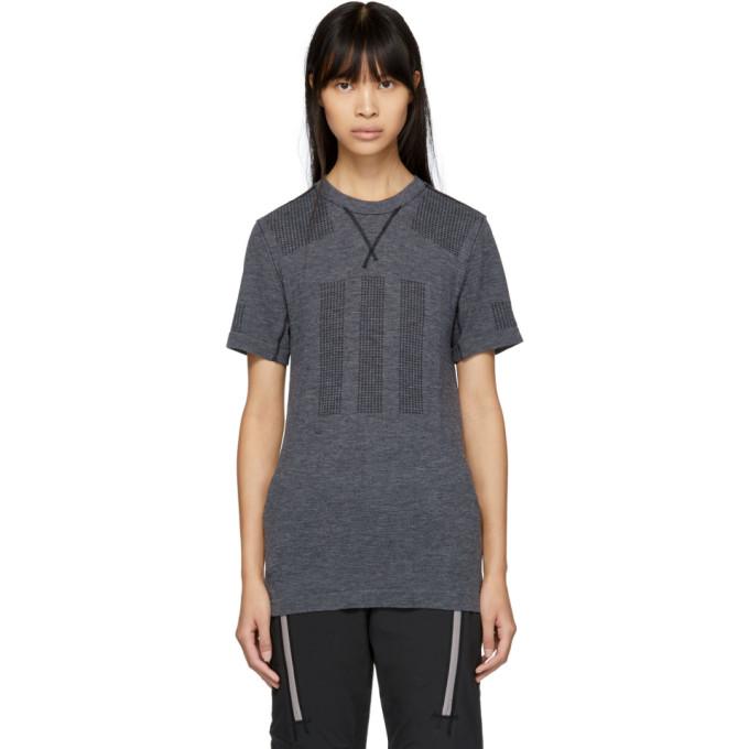 ADIDAS DAY ONE Adidas Day One Grey Primeknit Base Layer T-Shirt in Black