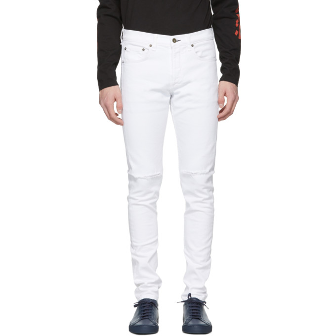 White Distressed Fit 1 Jeans by Rag & Bone