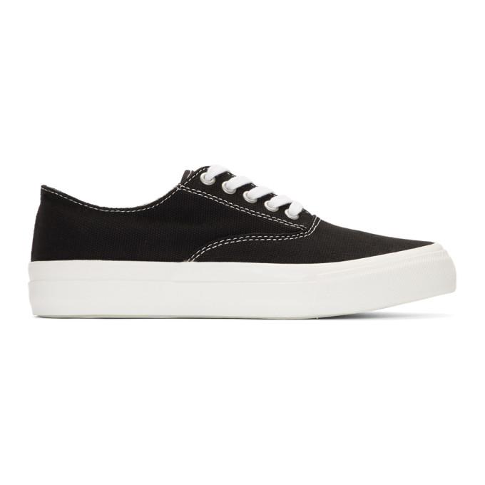 Comme des Garçons Homme Deux Black Canvas Mid-Top Sneakers