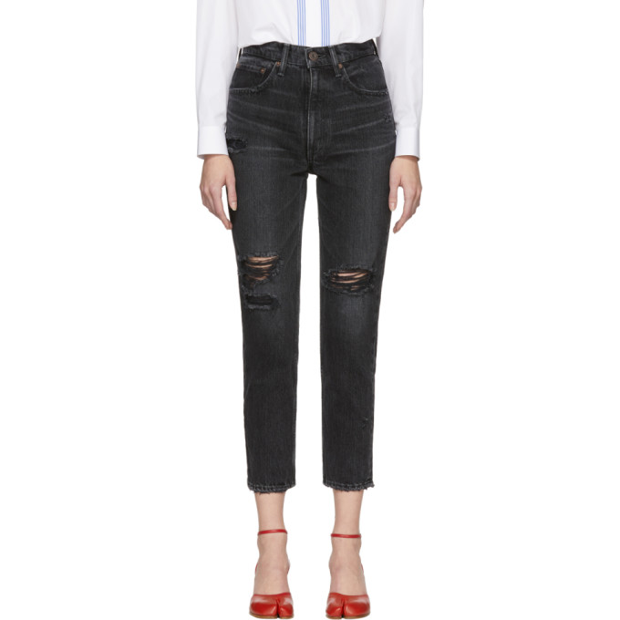 MOUSSY Moussy Vintage Black Stuart Boy Skinny Jeans in Blk