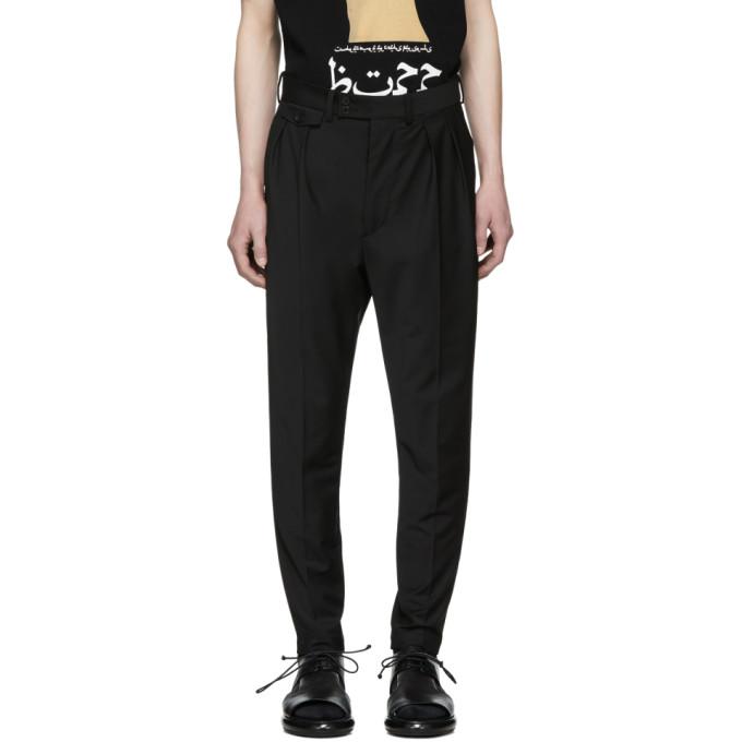 ALMOSTBLACK Almostblack Black Calf Zip Tapered Trousers