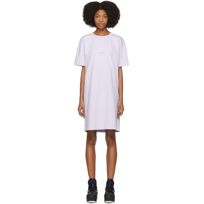 Purple Joupa T-Shirt Dress Acne Studios