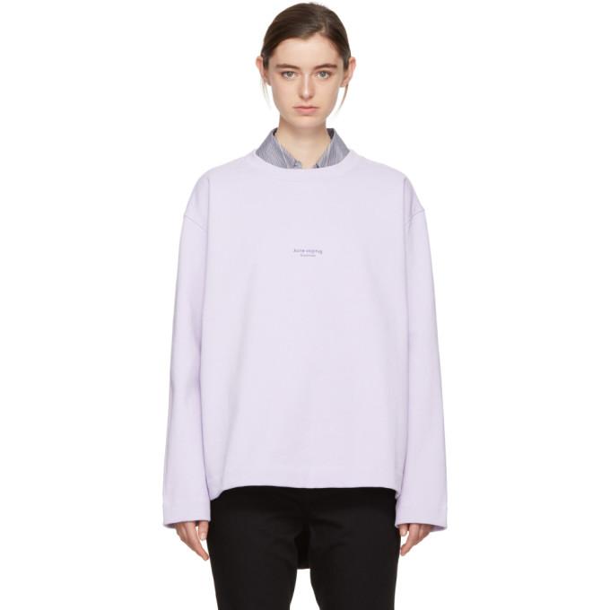Crew-neck logo cotton sweatshirt