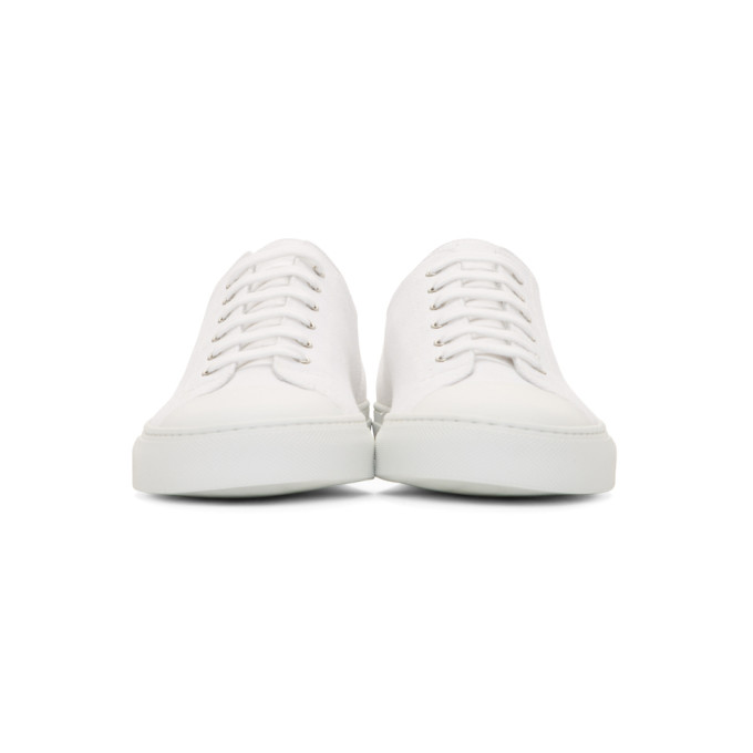 Cap-toe Canvas And Nubuck Sneakers - NavyCommon Projects