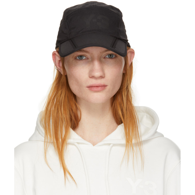 3a966a430bb Y-3 Logo Tech-Fabric Foldable Baseball Cap In Black