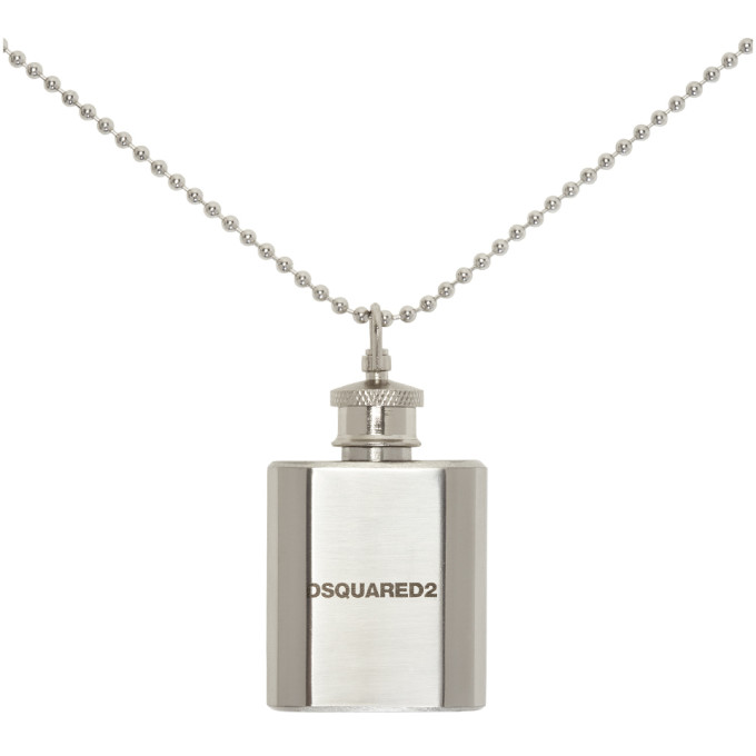 Silver Flask Ball Chain Necklace Dsquared2