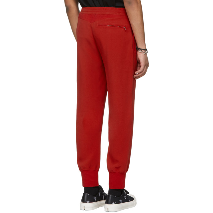 Red Crepe Sport Lounge Pants Alexander McQueen