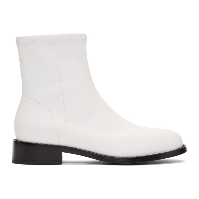 Opening Ceremony Leathers White Dani Boots
