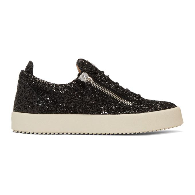 GIUSEPPE ZANOTTI - Glitter Low-Top Sneaker Frankie Glitter, Black
