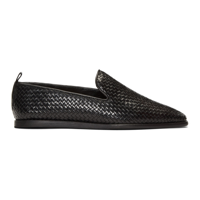 H BY HUDSON H By Hudson Black Woven Ipanema Loafers