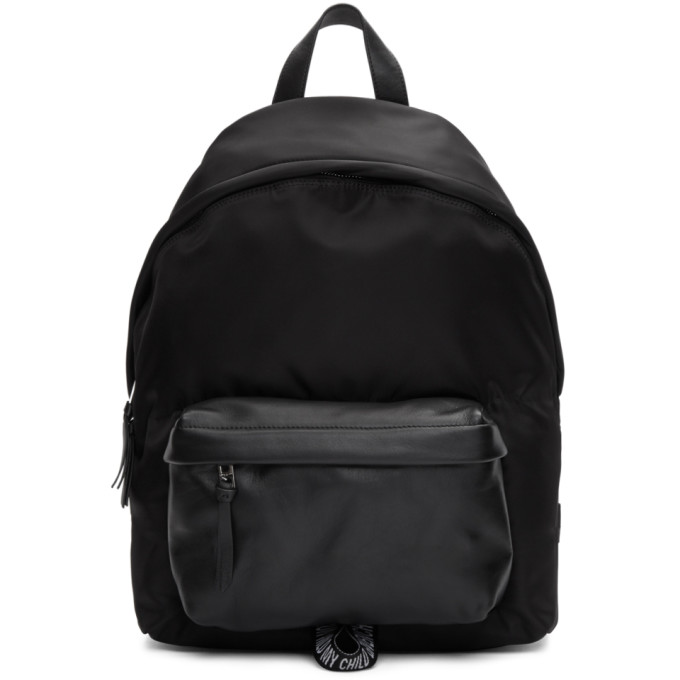 GIVENCHY Loop-Back Embroidered-Logo Leather Backpack in Black