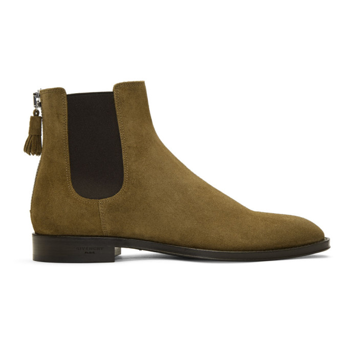 Beige Suede Rider Boots Givenchy