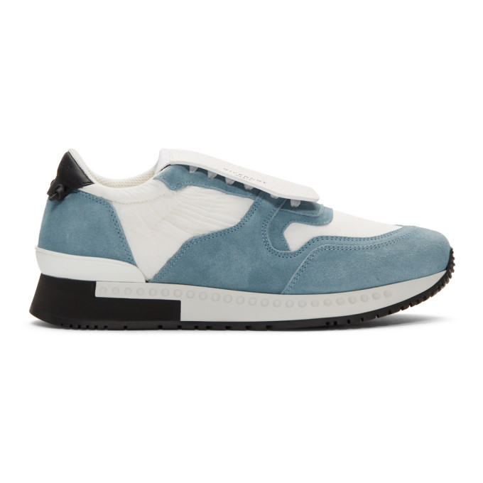 White & Blue Active Runner Sneakers by Givenchy