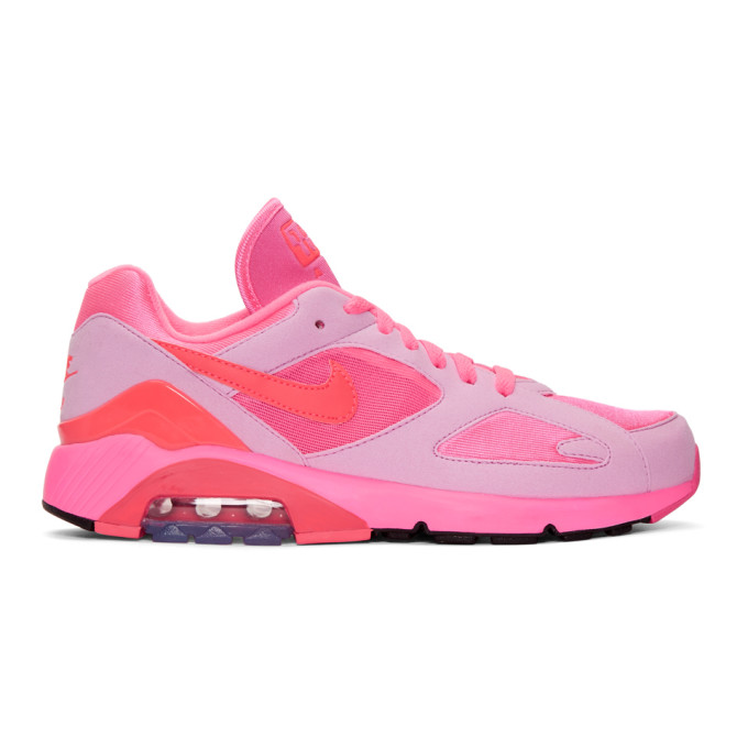 Comme Des Garcons Homme Plus Pink Nike Edition Air Max 180 Sneakers, 2Pink/Pi