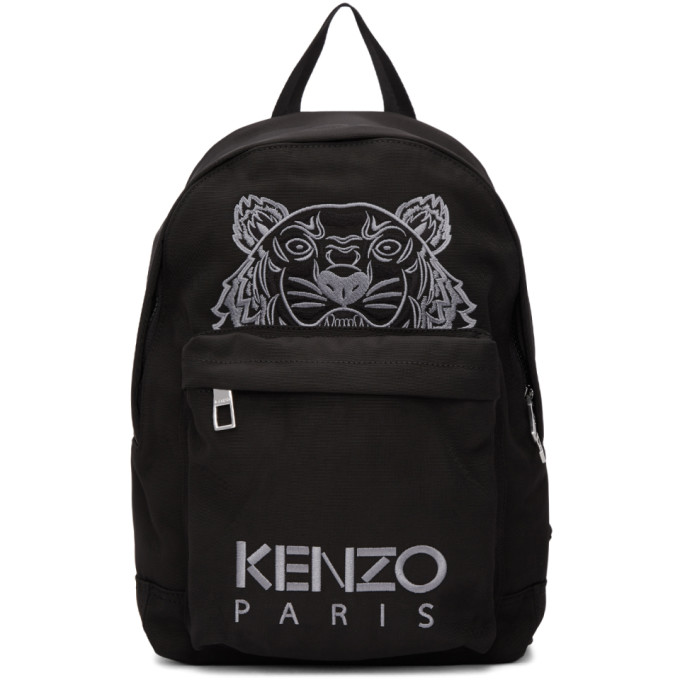 Black Small Tiger Backpack by Kenzo