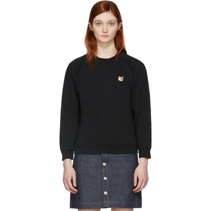 black-fox-head-patch-sweatshirt by maison-kitsunÉ