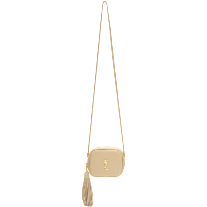 Beige Monogram Blogger Bag by Saint Laurent