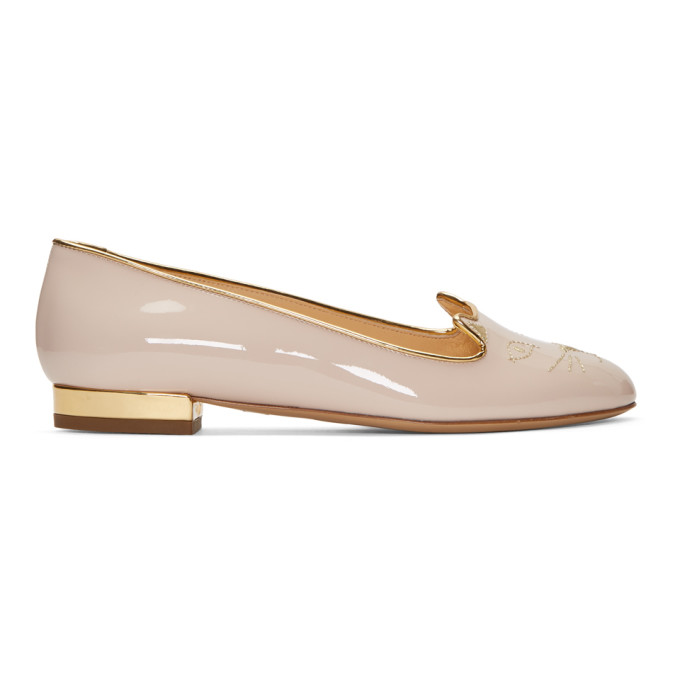 Charlotte Olympia SSENSE Exclusive Patent Kitty Flats