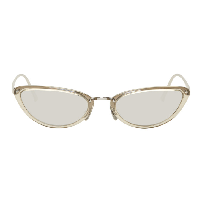 Linda Farrow Grey & White Gold 709 C7 Sunglasses