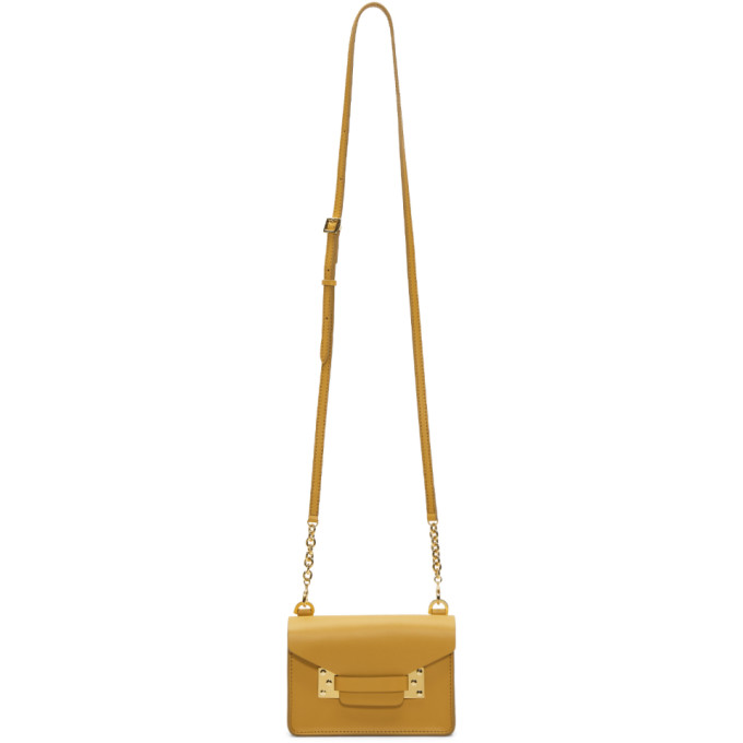 Sophie Hulme Yellow Nano Milner Crossbody Bag
