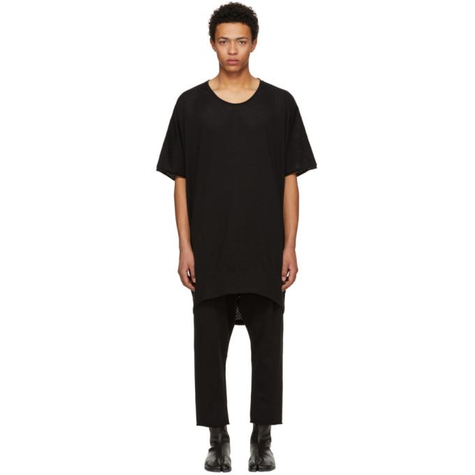 NUDE:MM Nude:Mm Black Pva Jacquard Jersey Big T-Shirt