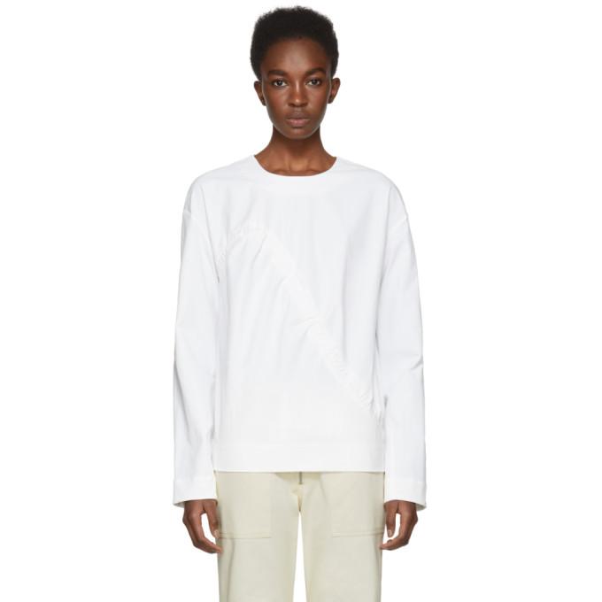 NOMIA Nomia White Shirred Front Tunic Blouse