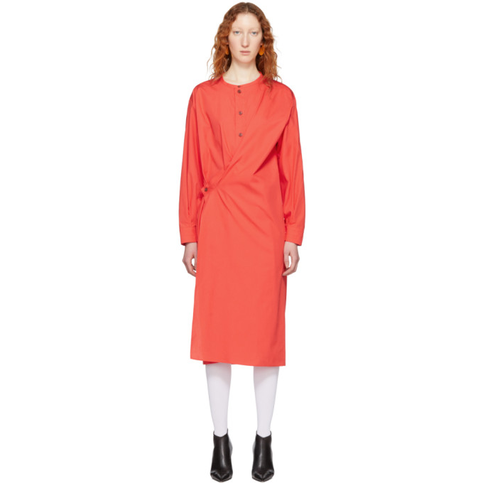 Lemaire  RED TWISTED DRESS