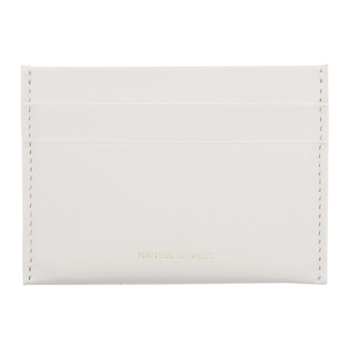 MANSUR GAVRIEL WHITE CREDIT CARD HOLDER
